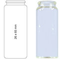 Picture of Vial N22-25, SCV, c, 26x65, flat 70273