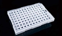 Picture of 0.2ml 96 Well PCR Plate, Semi Skirt, Clear, A12 Cut, Compatible with ABI Machine, 25/pk, 100/cs