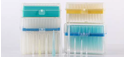 Picture of 10 ul Filter universal Pipette Tips, Clear,Racked, Pre-sterilized, 96/pk, 4800/cs